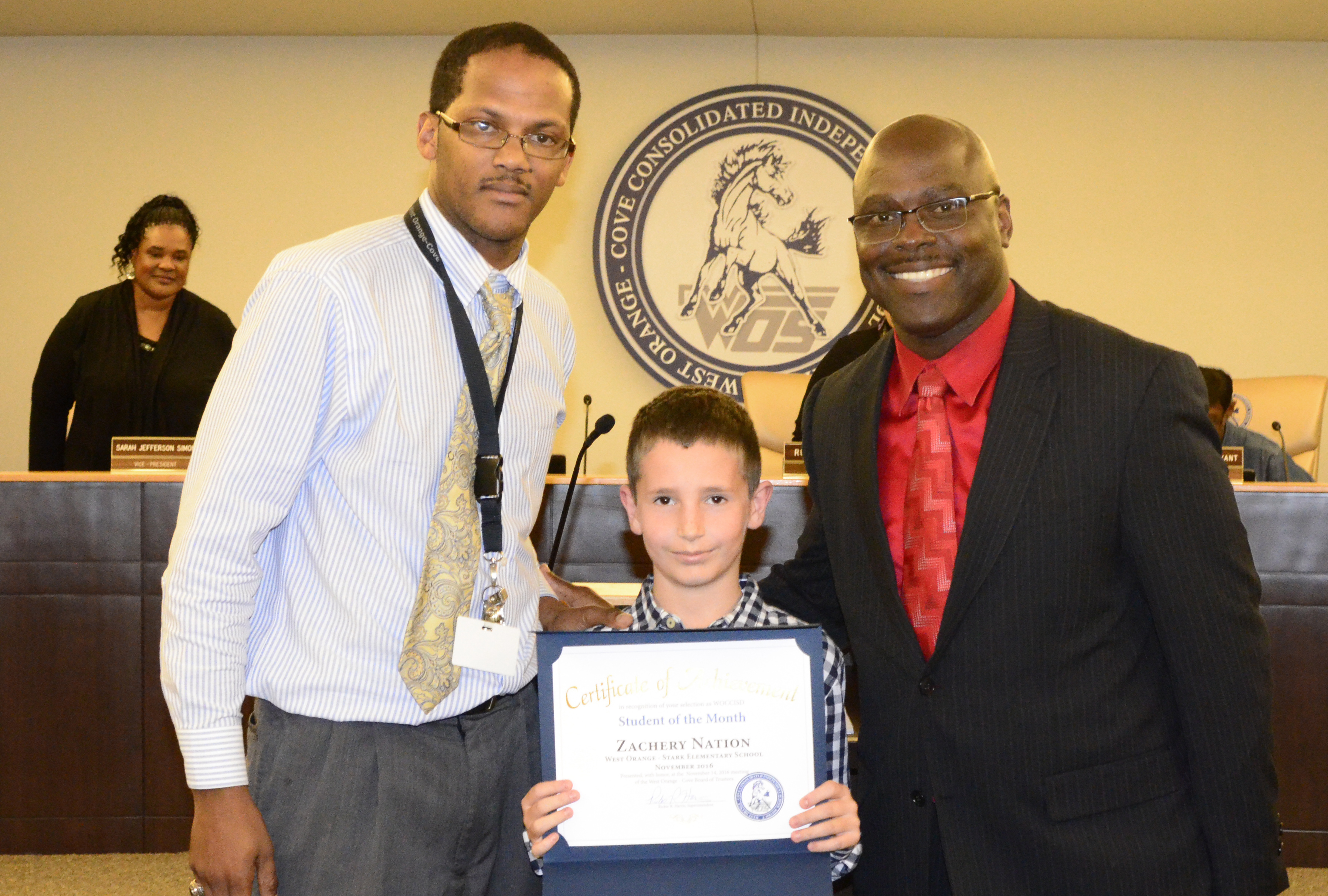 November 2016 Student of the Month